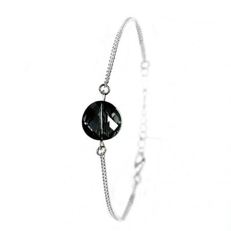 Bracelet plaqué argent So Charm orné d'un cristal SWAROVSKI® ELEMENTS silver night
