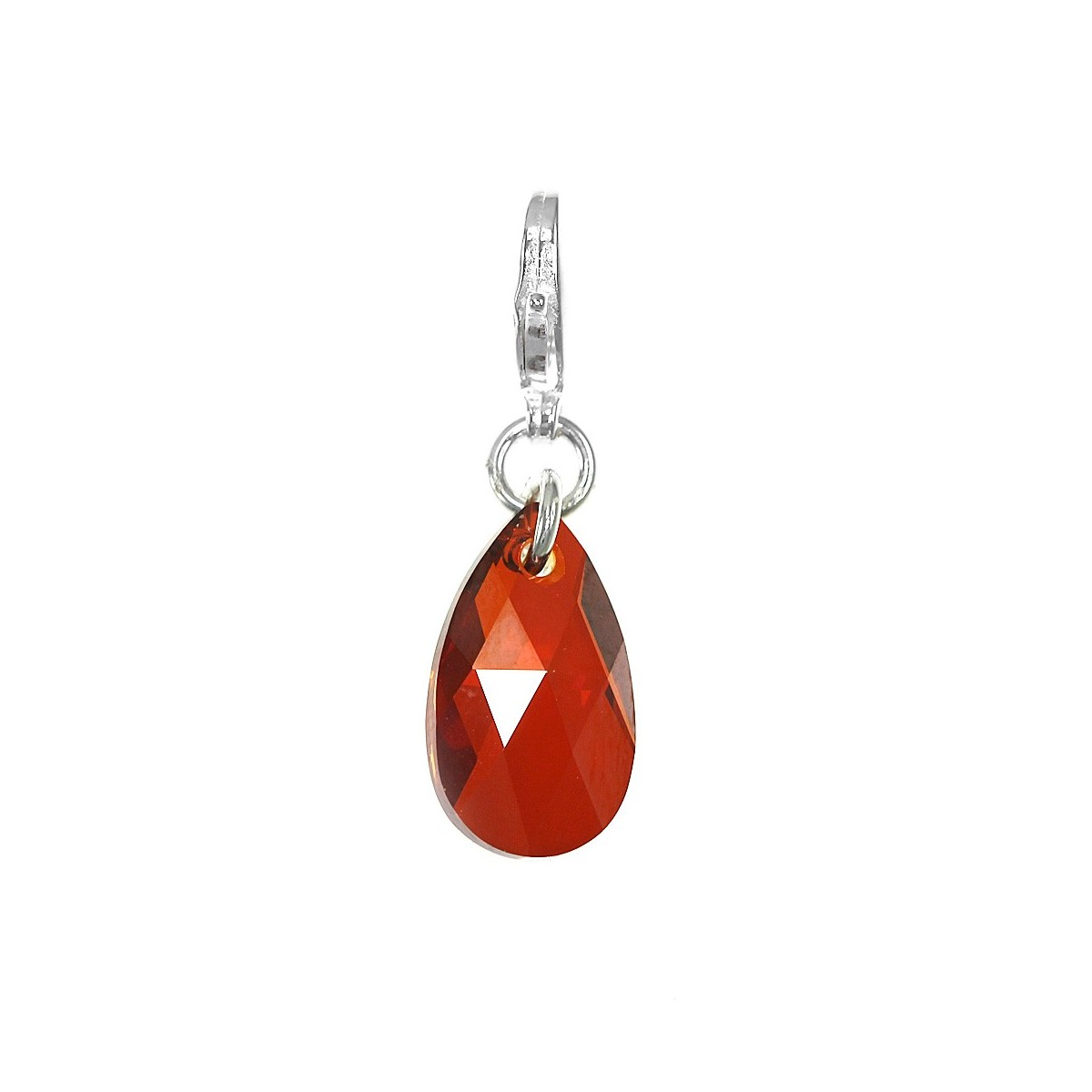 Charm goutte rouge So Charm made with Crystal from Swarovski
