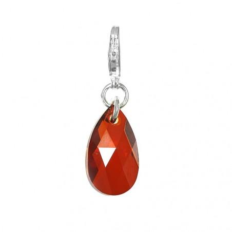 Charm goutte orné d'un cristal red magma SWAROVSKI® ELEMENTS par So Charm
