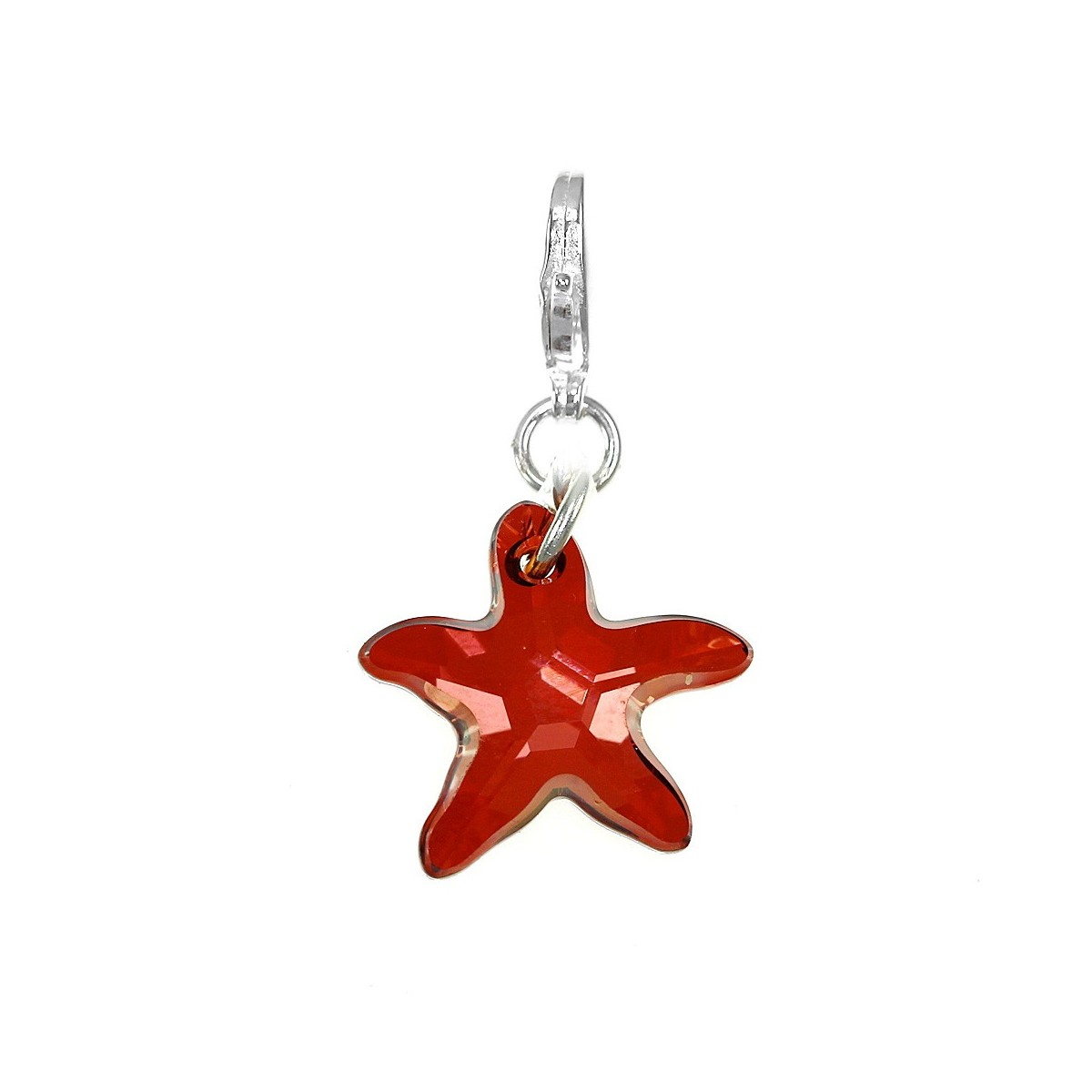Charm étoile de mer rouge So Charm made with Crystal from Swarovski