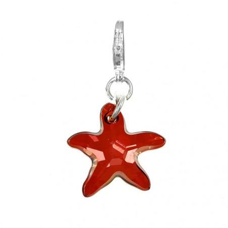 Charm étoile de mer orné d'un cristal rouge SWAROVSKI® ELEMENTS par So Charm
