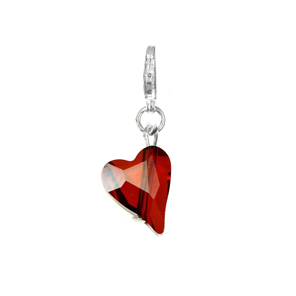 Charm coeur made with Crystal from Swarovski rouge par So Charm