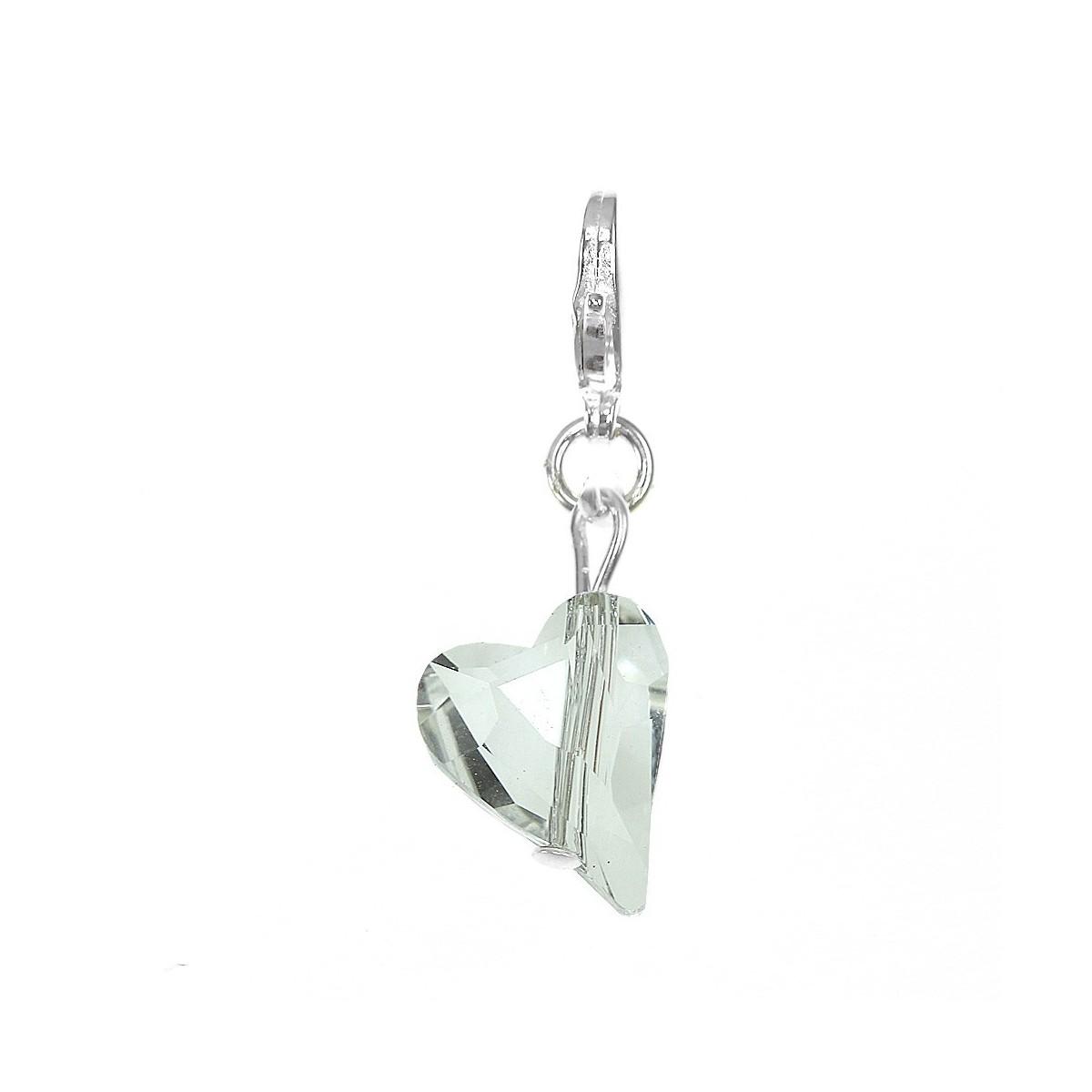 Charm coeur orné d'un cristal blanc SWAROVSKI® ELEMENTS par So Charm