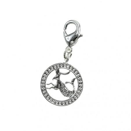 Charm capricorne signe astrologique So Charm plaqué argent 3 microns