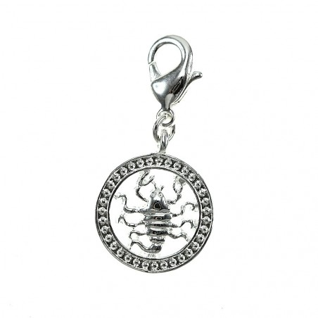 Charm scorpion signe astrologique So Charm plaqué argent 3 microns