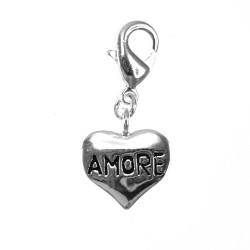 Amore heart BR01 silver...