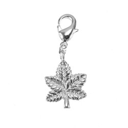 Silver cannabis leaf BR01