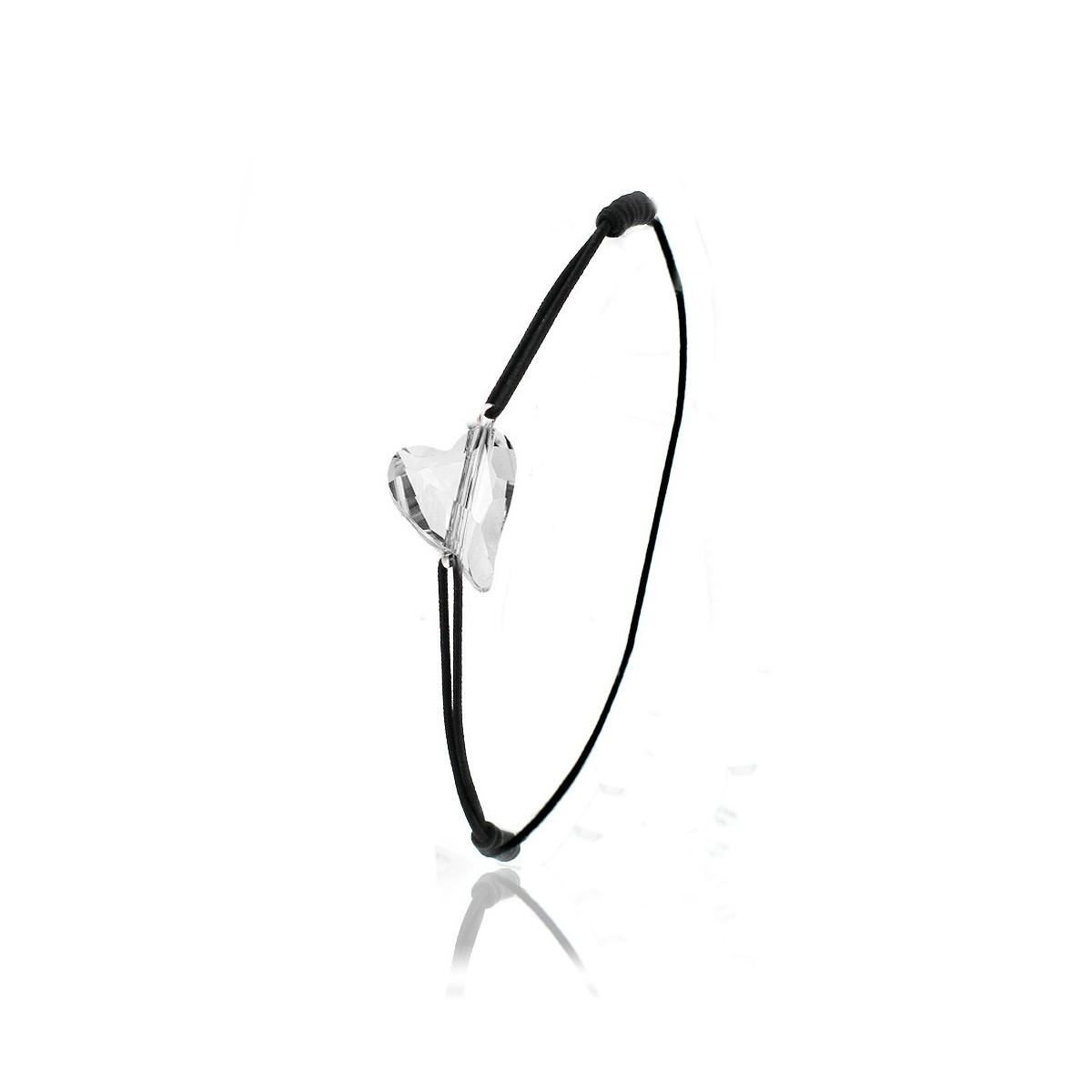 Bracelet élastique noir So Charm made with Crystal from Swarovski