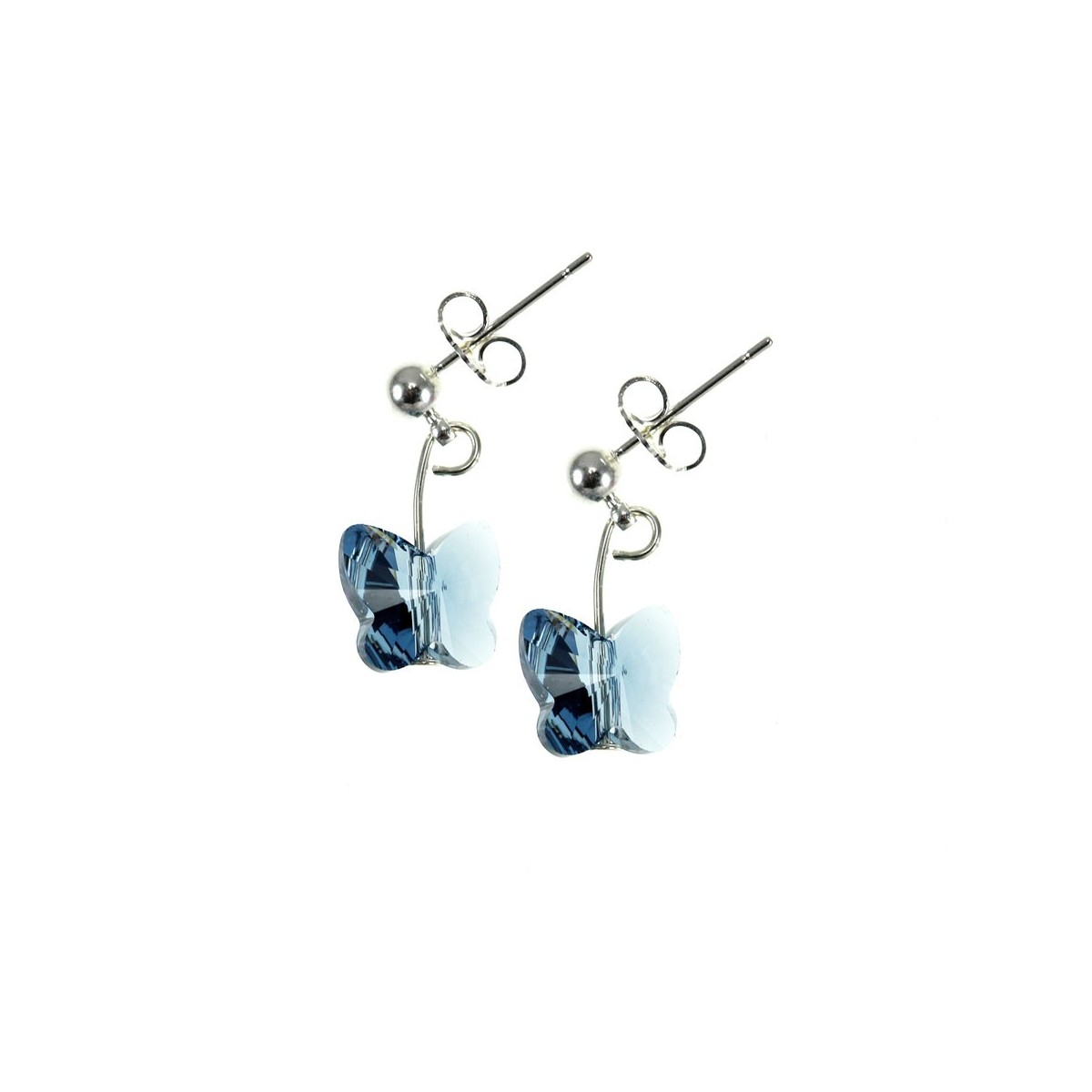 Boucles d'oreilles So Charm made with Crystal from Swarovski bleu