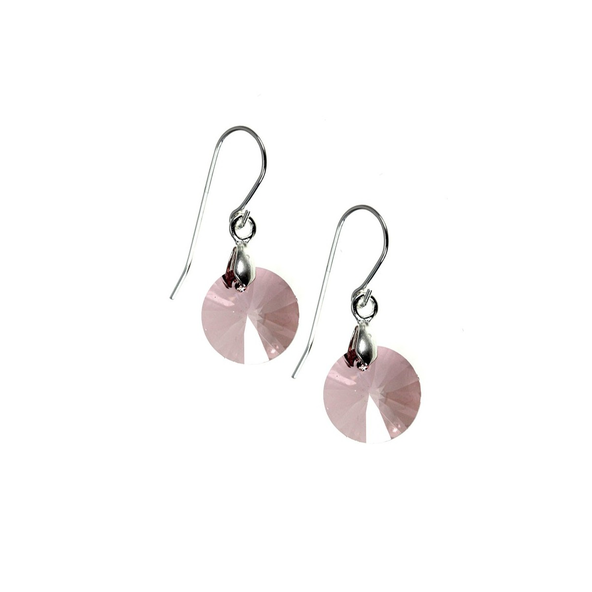 Boucles d'oreilles So Charm ornées d'un cristal rose made with crystal from Swarovski