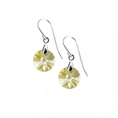 Boucles d'oreilles So Charm ornées d'un cristal golden made with crystal from Swarovski