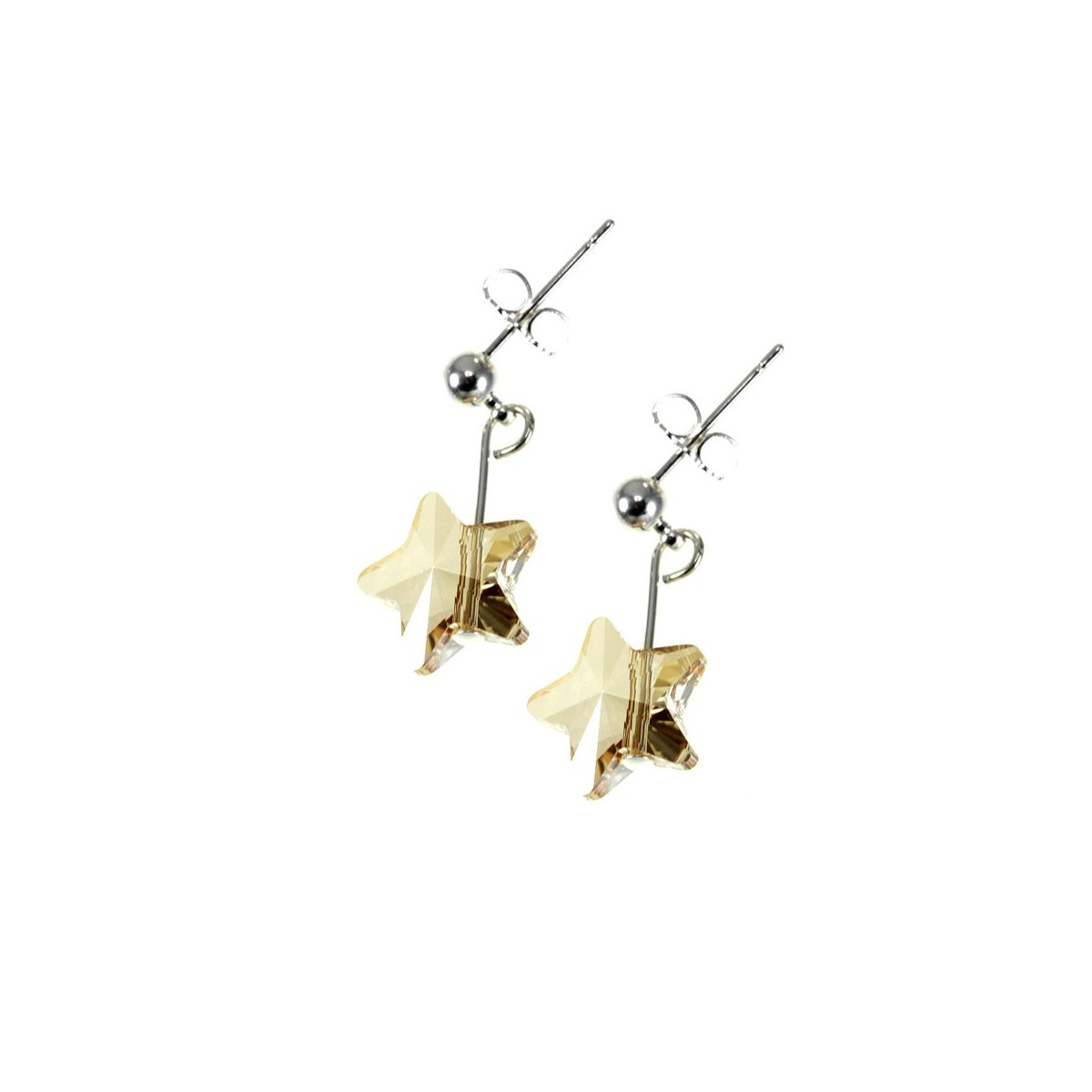 Boucles d'oreilles So Charm ornées d'une étoile golden made with crystal from Swarovski