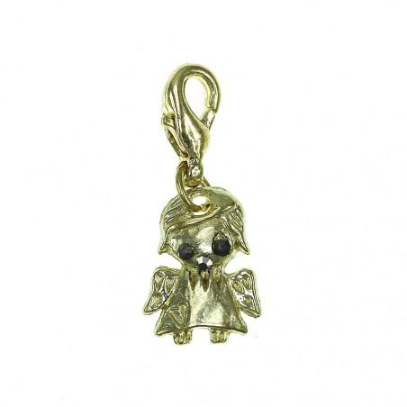 Breloque charm petit ange doré avec cristaux de Bohème So Charm