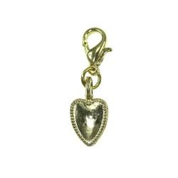 Breloque charm coeur dorée...