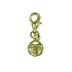 BR01 golden moon face charm...