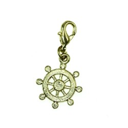 BR01 golden wheel charm charm