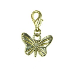 BR01 golden butterfly charm...
