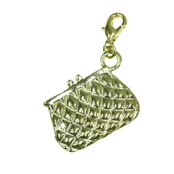 BR01 gold wallet charm charm