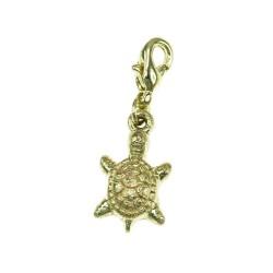 Breloque charm tortue dorée...