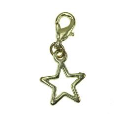 Breloque charm étoile dorée...