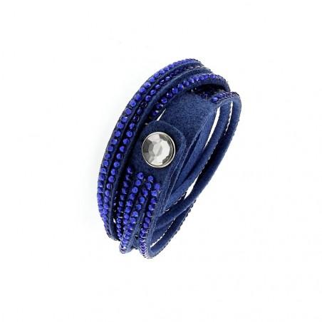 Bracelet fantaisie bleu multi tours