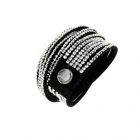 Bracelet noir multi tours