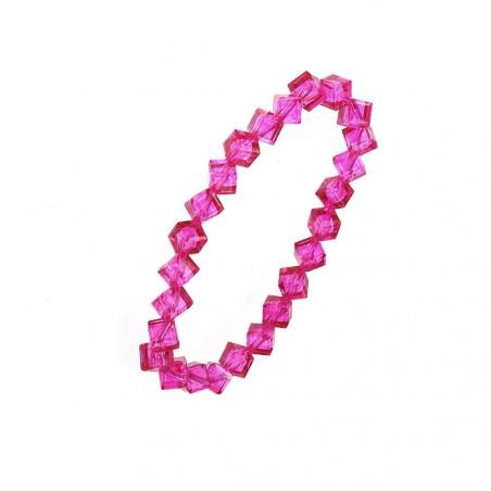 Bracelet orné de perles en cristal rose