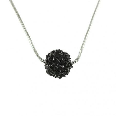 Collier perle de shambalah noire