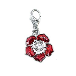 Charm fleur rouge So Charm