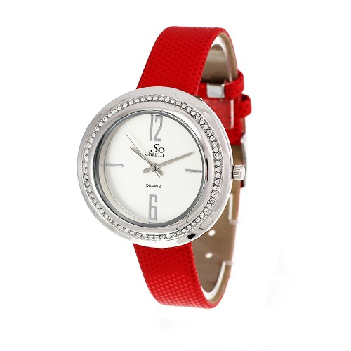 Montre femme rouge So Charm ornée de SWAROVSKI ELEMENTS