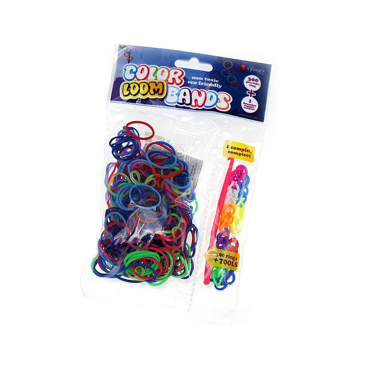 1 Bracelet + 300 élastiques color loom bands
