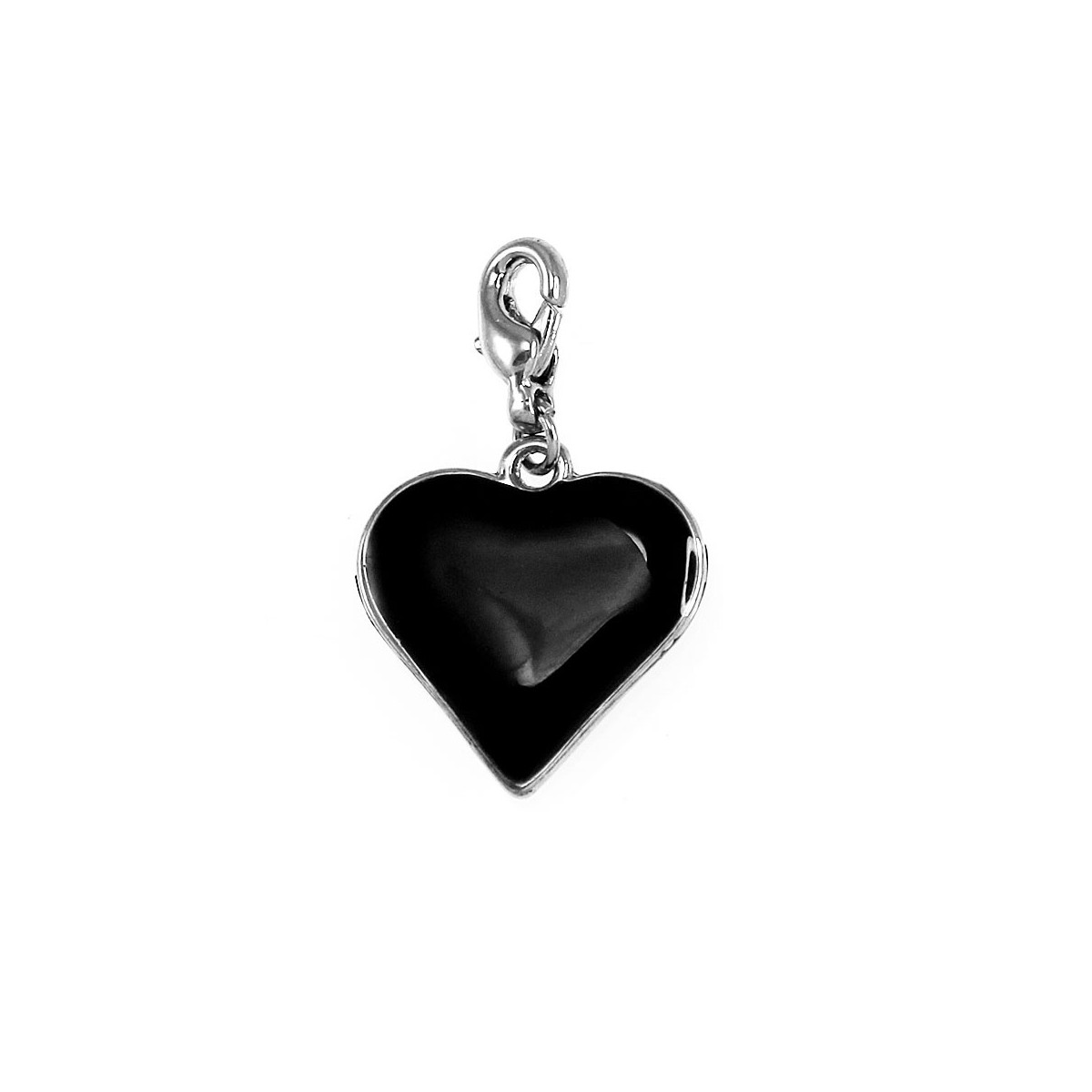 Breloque charm coeur noir So Charm