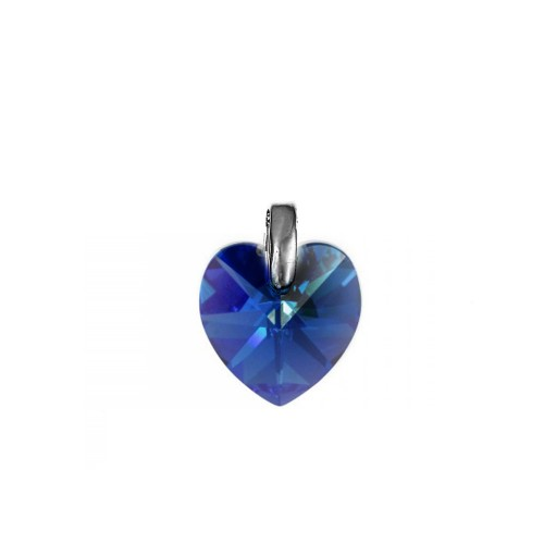 Pendentif coeur sapphire So Charm made with crystal from Swarovski