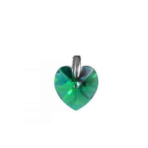 Pendentif coeur emerald So Charm made with crystal from Swarovski