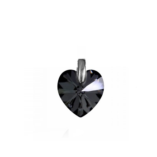 Pendentif coeur silver night So Charm made with crystal from Swarovski