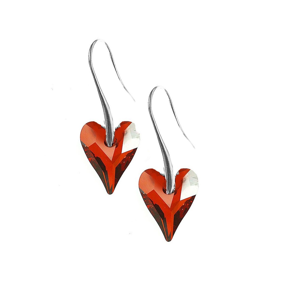 Boucles d'oreilles So Charm made with Crystal from Swarovski rouge