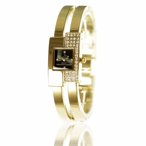 MF009-DORE Montre bracelet doré pour femme So Charm made with crystal from Swarovski Elements