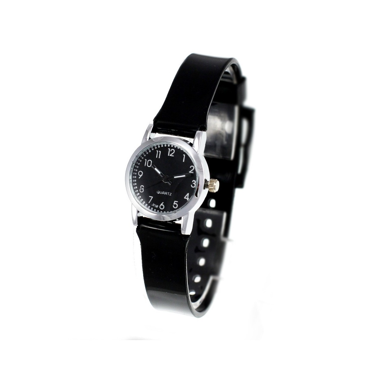 Montre enfant bracelet silicone noir