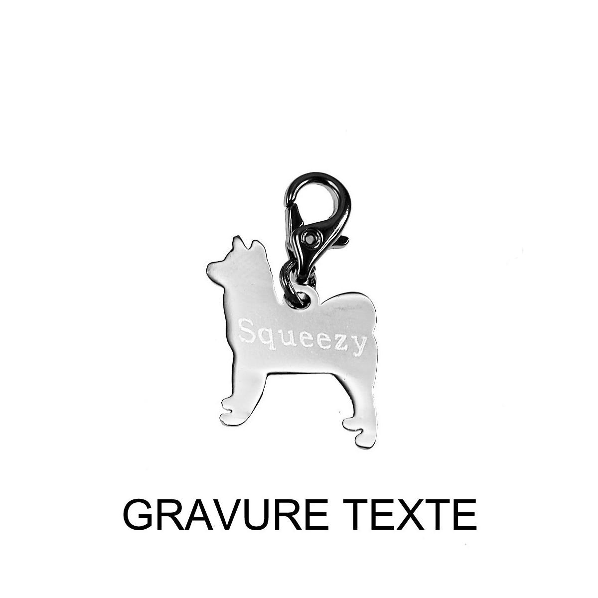 GRAV009-CH1222 Charm chien So Charm à graver