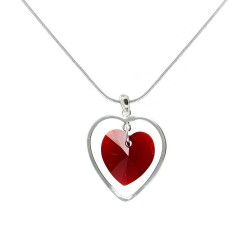 Collier coeur rouge BR01...