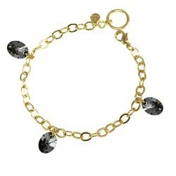 Bracelet plaqué à l'or fin...