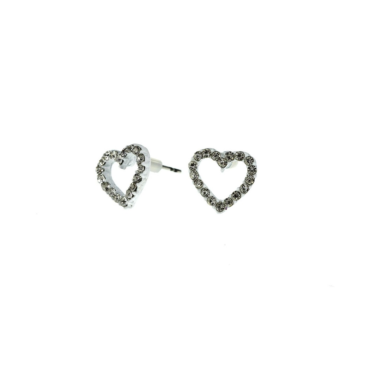 Boucles d'oreilles coeur blanc