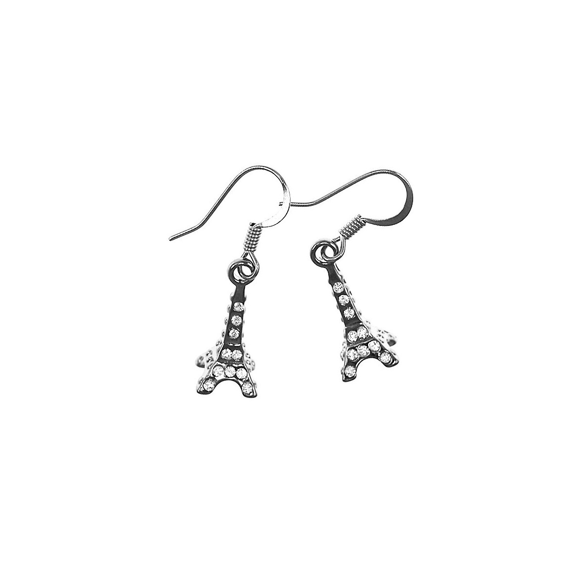 Boucles d'oreilles Tour Eiffel So Charm made with crystal from Swarovksi