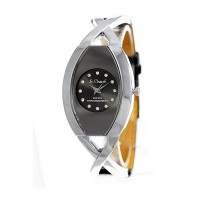 Montre noire pour femme So Charm made with crystal from Swarovski Elements