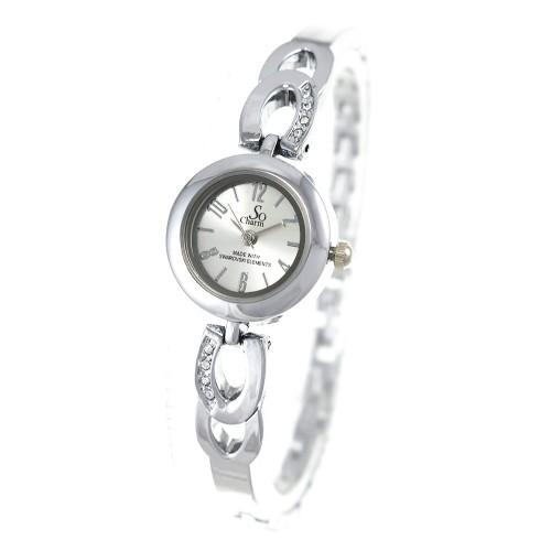 Montre femme bracelet métal argenté So Charm made with crystal from Swarovski Elements