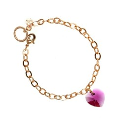 Bracelet doré rosé et coeur...
