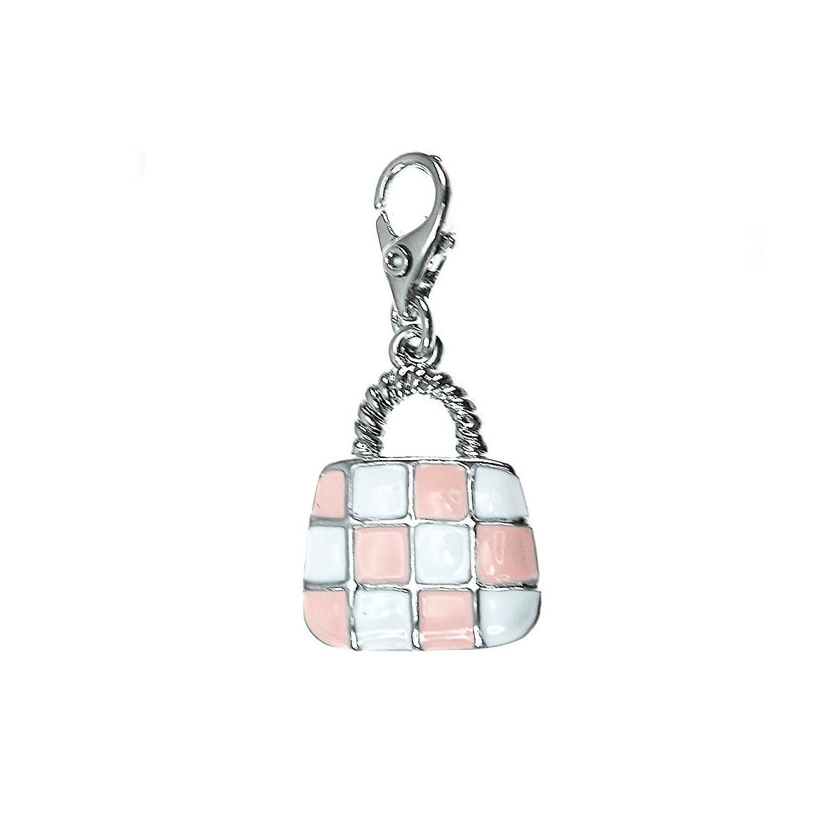 CH0974 Charm sac à main rose et blanc So Charm