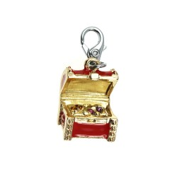 SoCharm red and gold chest...