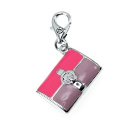 Charm sac à main violet et...