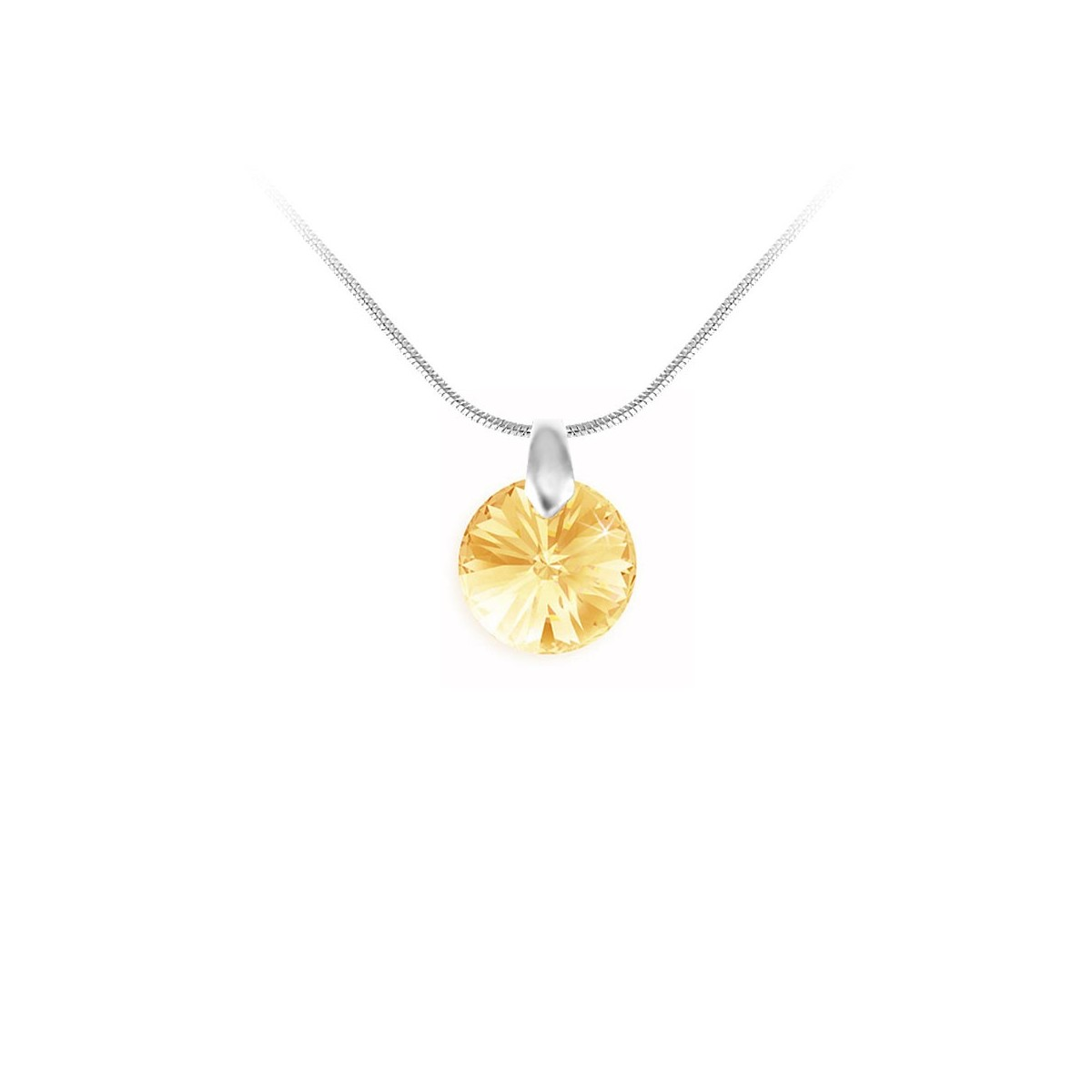Collier argenté So Charm made with Crystal from Swarovski jaune